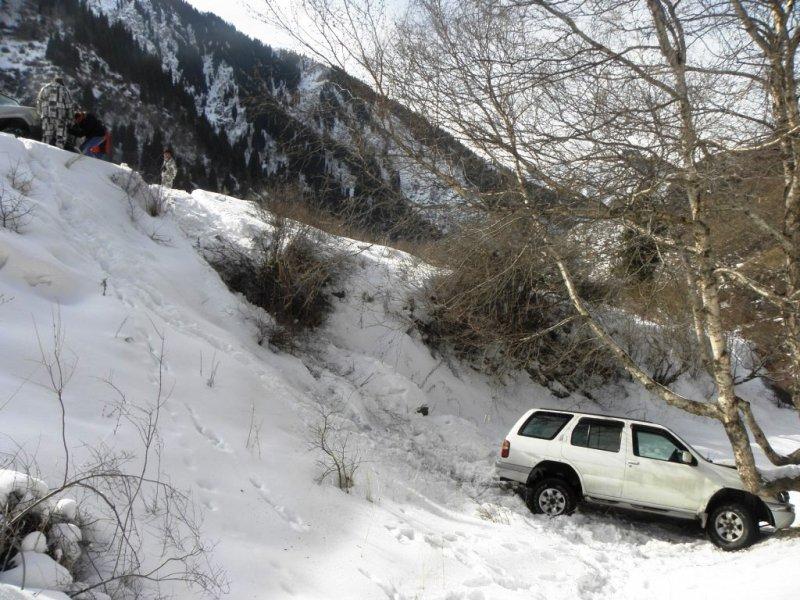 Эвакуатор алматы зимой в горах 1
