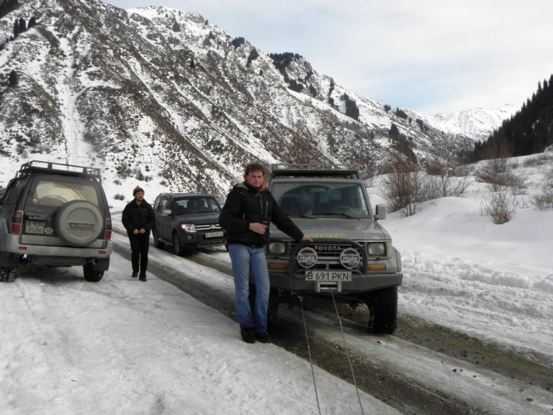 Эвакуатор алматы зимой в горах 13